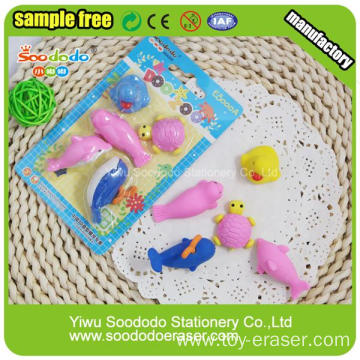 Good Quality Promotional Sea Animal Eraser